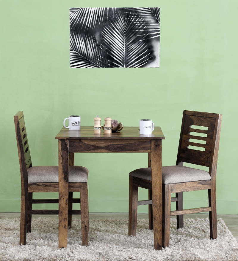 Valencia Two Seater Cushioned Dining Set in Provincial Teak Finish by Woodsworth