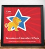 Two Gud Leo - Becomes a Lion after 3 Pegs Zodiac Wall Poster