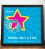 Two Gud Pisces - Drinks like a Fish Zodiac Wall Poster