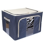 Blue Polyester with Steel Frame Clothes Storage Box