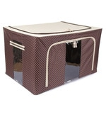 Brown Polyester with Steel Frame Clothes Storage Box