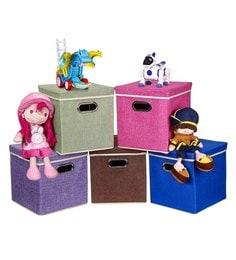 Uberlyfe Cardboard 25 L Multicolour Storage Boxes - Set Of 5