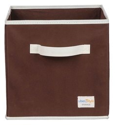 Uberlyfe Cubies Cardboard 20 L Brown Storage Box