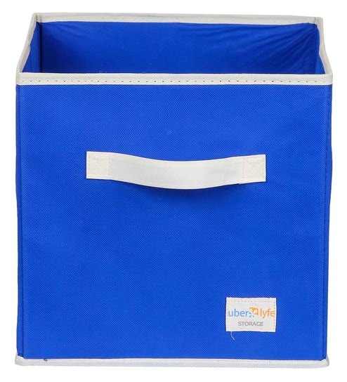 Uberlyfe Cubies Cardboard 20 L Blue Storage Box