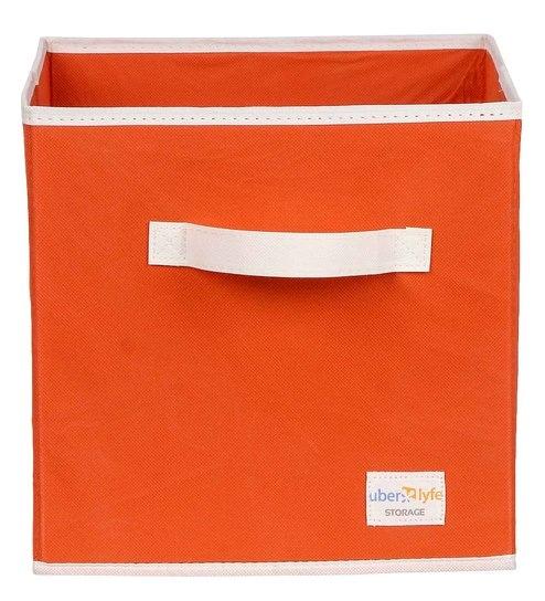 Uberlyfe Cubies Cardboard 20 L Orange Storage Box
