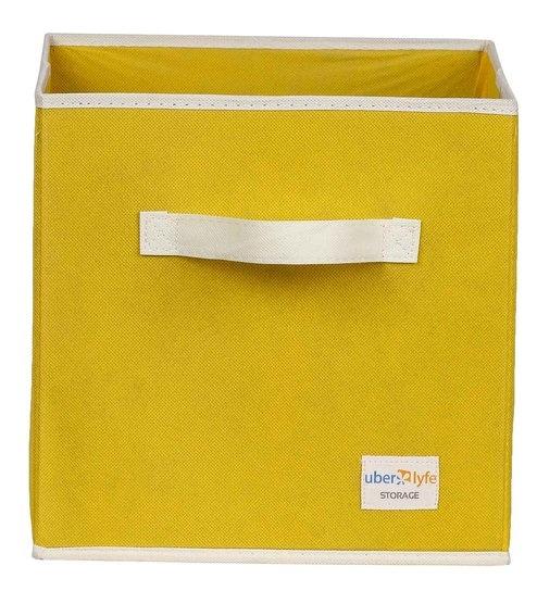 Uberlyfe Cubies Cardboard 20 L Yellow Storage Box