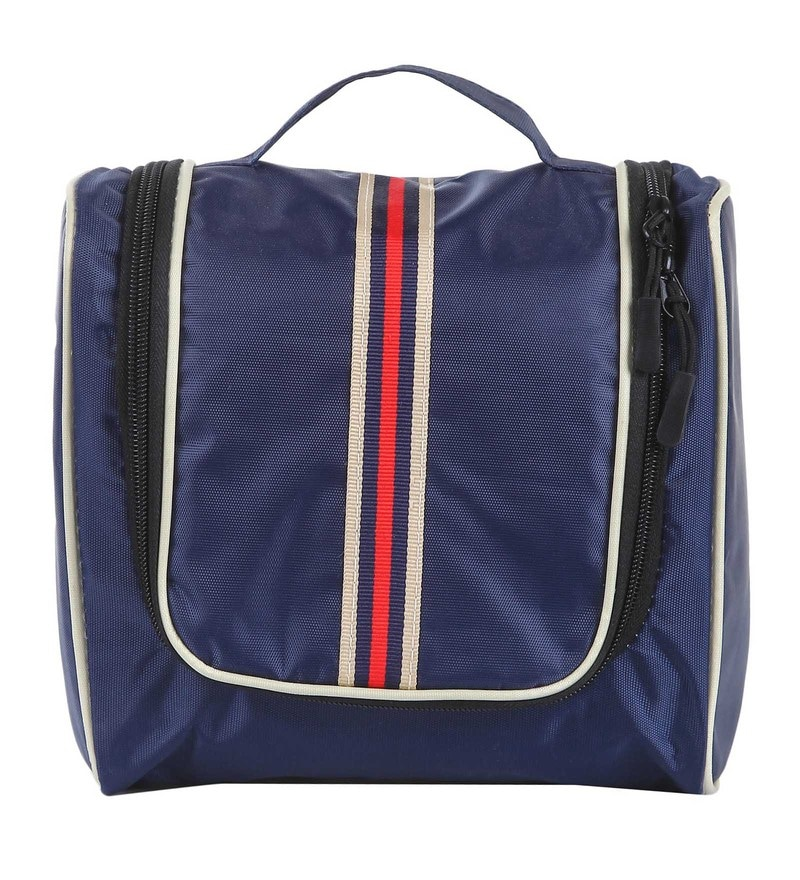 Uberlyfe Polyester Dark Blue Travel Toiletry Bag