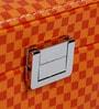 Double Level Orange Up Leatherette Jewellery Box Cum Organizer by Uberlyfe
