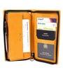 Uberlyfe Leather Yellow Passport Holder Cum Organiser