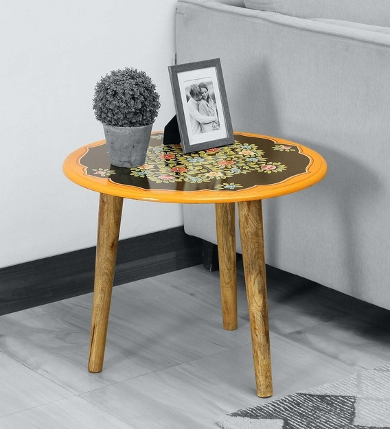 Buy Ugra Solid Wood Hand Painted Coffee Table Mudramark By Pepperfry Online Traditional End Tables Tables Furniture Pepperfry Product