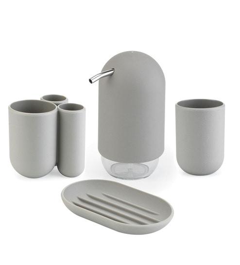 Umbra Touch Grey Bathroom Set