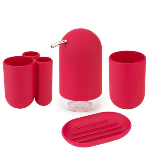 Umbra Touch Raspberry Bathroom Set