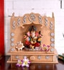 Gold MDF Rajputana Art Creation Table Top & Wall Temple by ShriNath