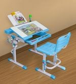 Universal Study Table Set in Blue and White Colour