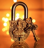 Unravel India Lakshmi Brass Lock