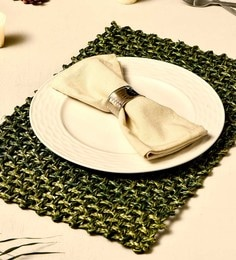 Unravel India Jali Olive Sabai Grass Placemats - Set Of 2