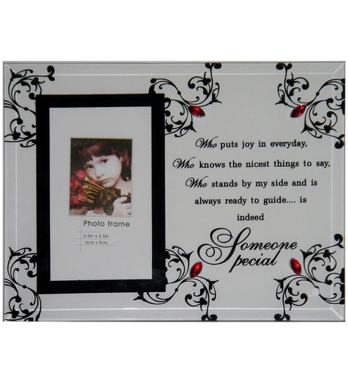 Unicorn Glass Photo Frame With Someone Special Message By Unicorn