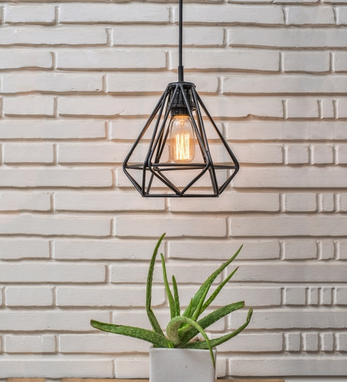 Black Metal Filament Lamp by Untold Homes