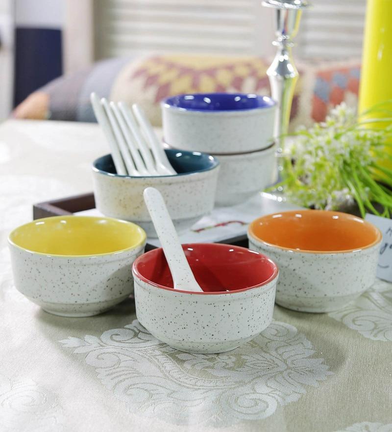 Unravel India Ceramic 150 ML Soup Bowls - Set of 6