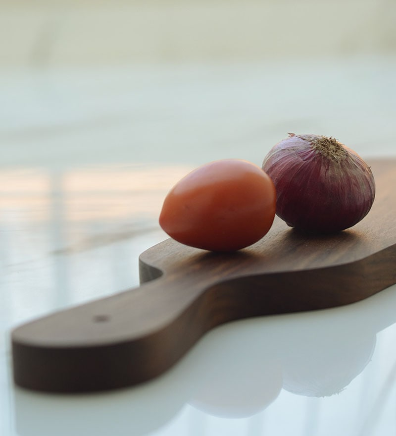 Unravel India Wooden Brown Cheese Board