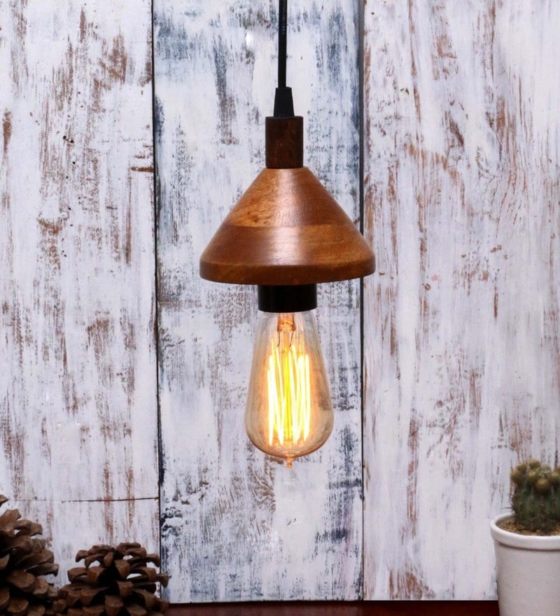 Brown Wood Pendant by Untold Homes
