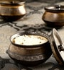 Unravel India Hand Crafted Stoneware Bowl with Lid - Set of 3