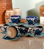 Unravel India 150 Moroccan Hand-painted Tea Set - Set of 6