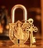 Unravel India Saraswati Brass Lock