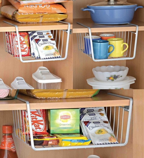 Steel Made Under shelf for Kitchen - Set of 3 By Upasana