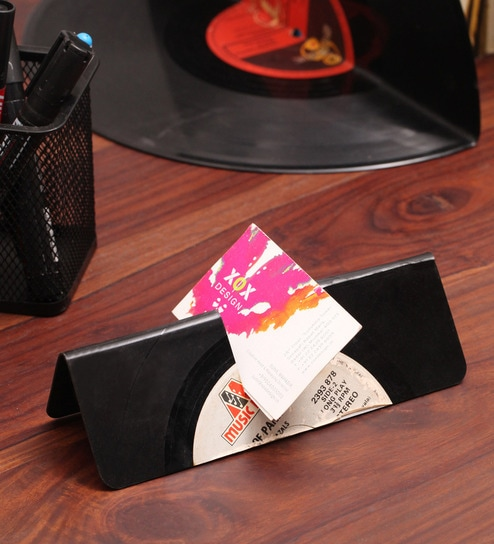 buy the upcycle project vinyl visiting card display online