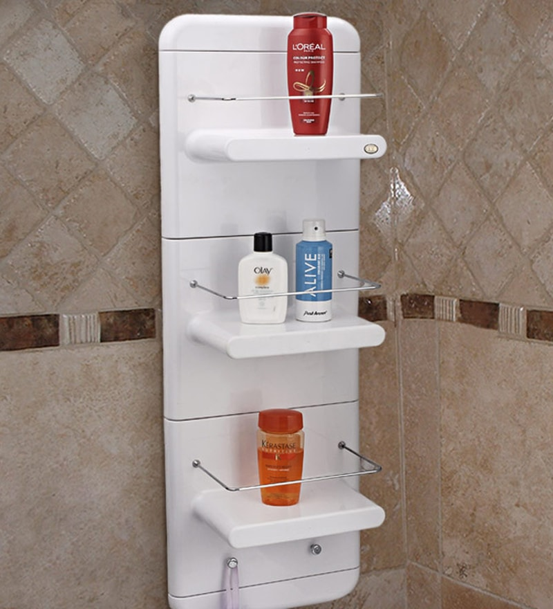 buy upasana white abs plastic bathroom cabinet online