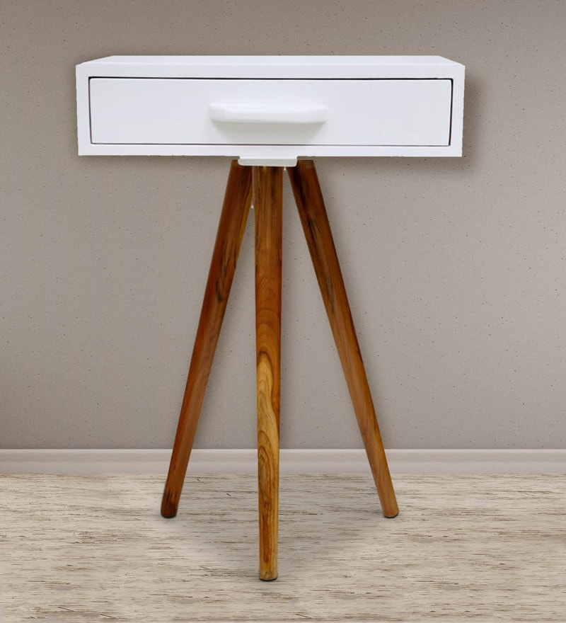 Upcyled Tripod Table by Desi Jugaad