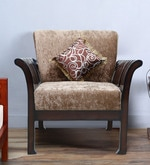 Uratex One Seater Sofa in Walnut Finish