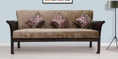 Uratex Three Seater Sofa in Walnut Finish