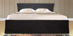 Urban Queen Bed with Drawer Storage in Wenge Colour