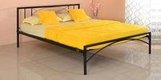 Ursa Queen Size Bed in Black Finish