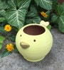 Uru Products Handpainted Bird Planter in Yellow