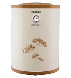 Usha Misty Storage Water Heater, Ivory Gold, 10 Litres