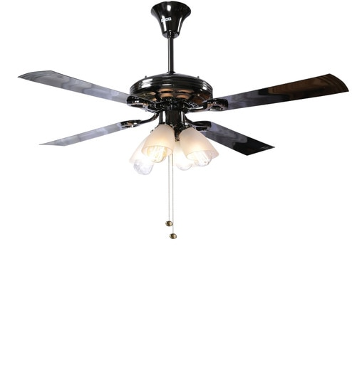 Buy usha fontana lotus black chrome ceiling fan with light online usha fontana lotus black chrome ceiling fan with light mozeypictures Gallery