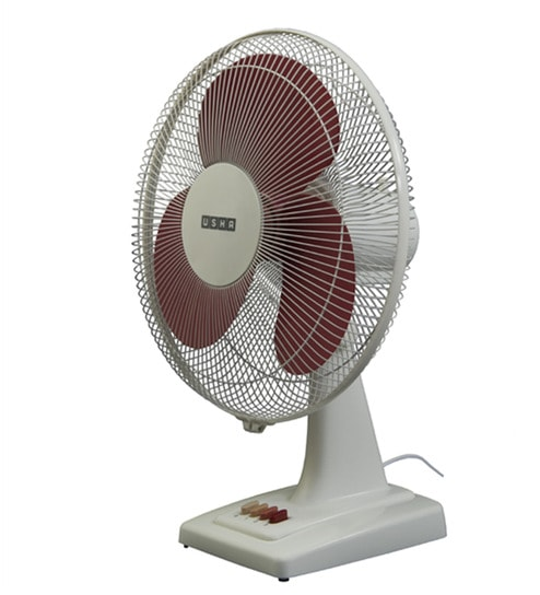 Pleasing Usha Mist Air Ex Red Plastic 3 Blades Table Fan Home Interior And Landscaping Pimpapssignezvosmurscom