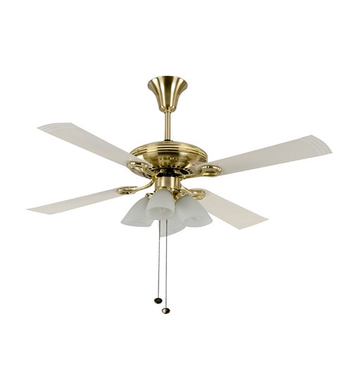 Usha Fontana Lotus White Gold Ceiling Fan