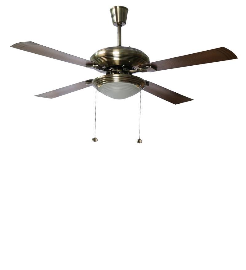Buy Usha Fontana One Antique Brass Ceiling Fan With Light