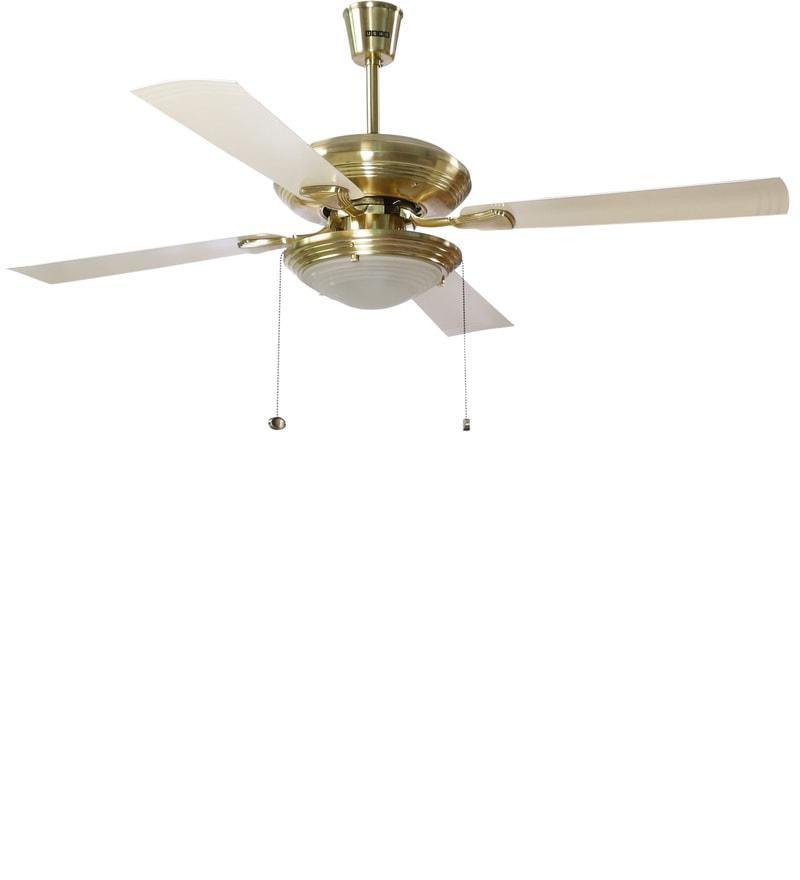 Buy Usha Fontana One Gold Ivory Ceiling Fan With Light
