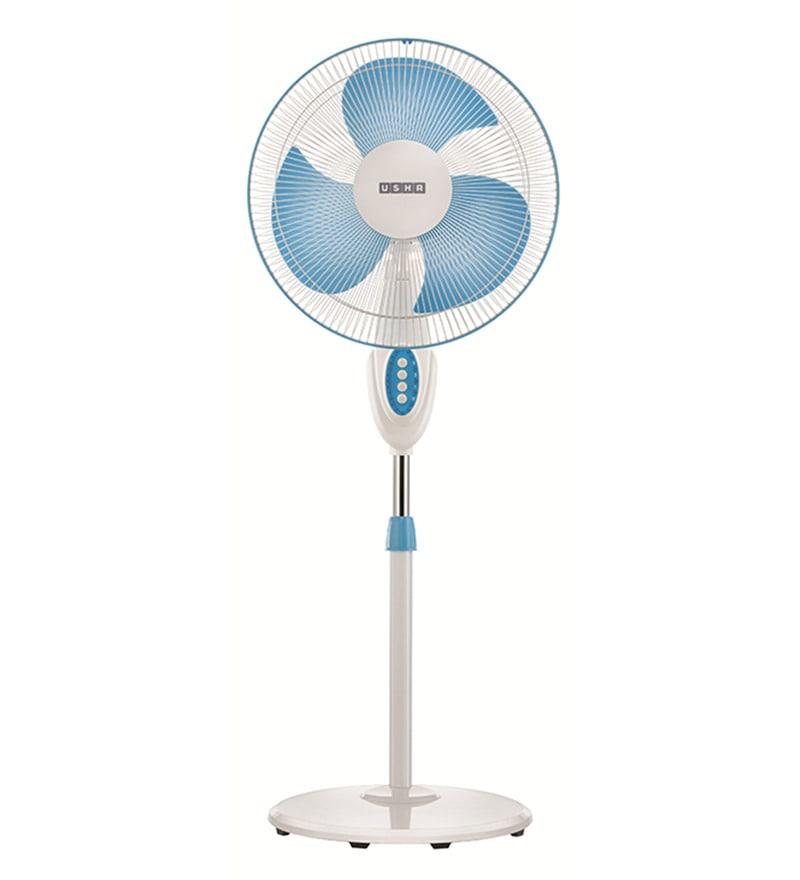 Usha Helix Pro High Speed Blue 3 Blades Pedestal Fan