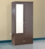 Utsav Two Door Wardrobe With Mirror in Wenge Finish