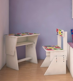 Utopia Extendable Chair & Desk Set For Kids In Multicolour