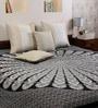 Mandala Print Black & White Cotton Floral 90 x 83 Inch Bedsheet by Uttam