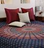 Mandala Print Blue Cotton Floral 90 x 83 Inch Bedsheet by Uttam