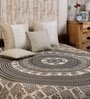 Uttam Square Elephant Batik Print Black Cotton 90 x 83 Inch Bedsheet