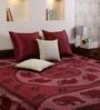 Square Elephant Print Maroon Cotton 90 x 83 Inch Bedsheet by Uttam